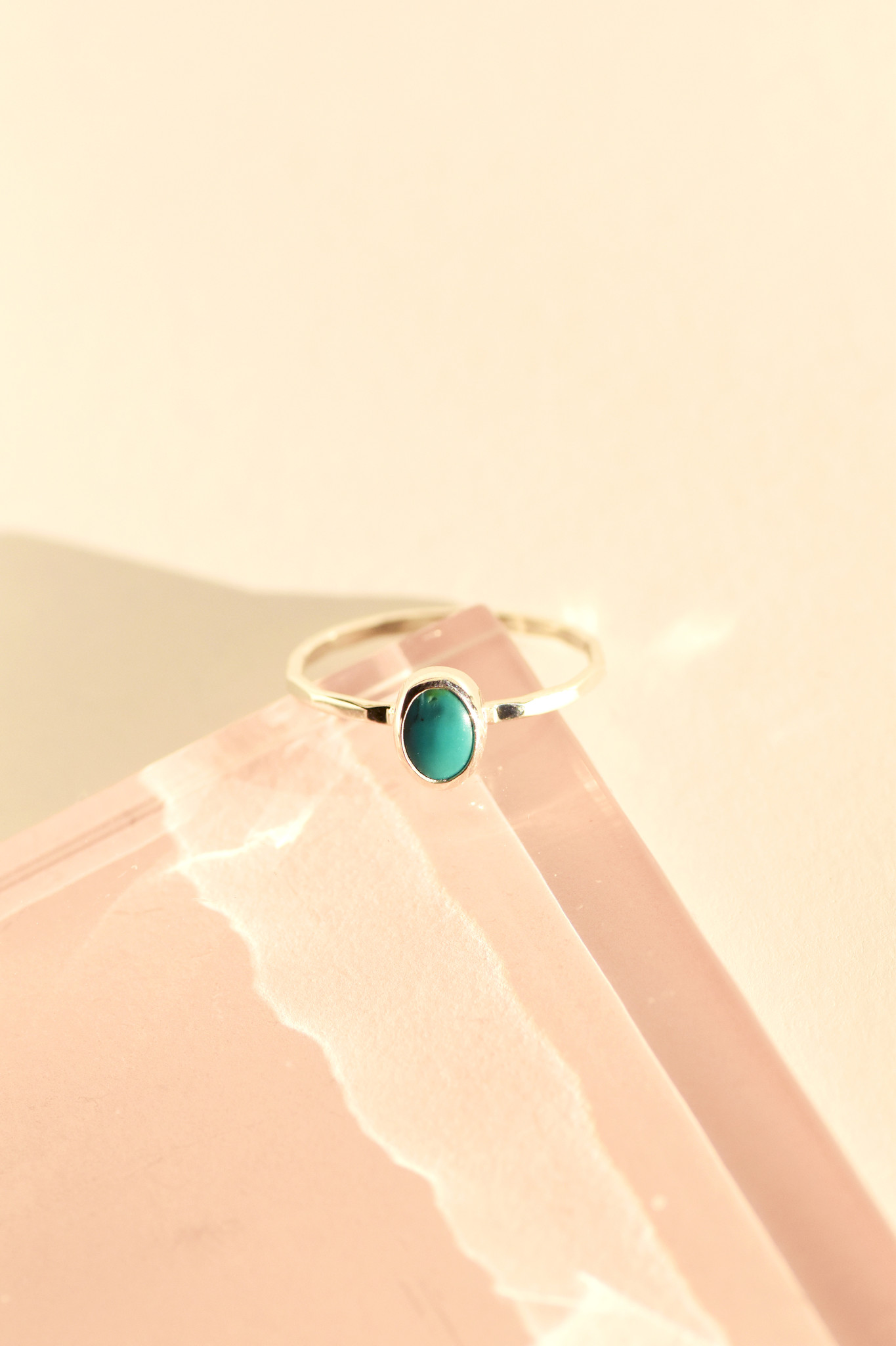 Melissa Joy Manning Small Oval Turquoise Ring