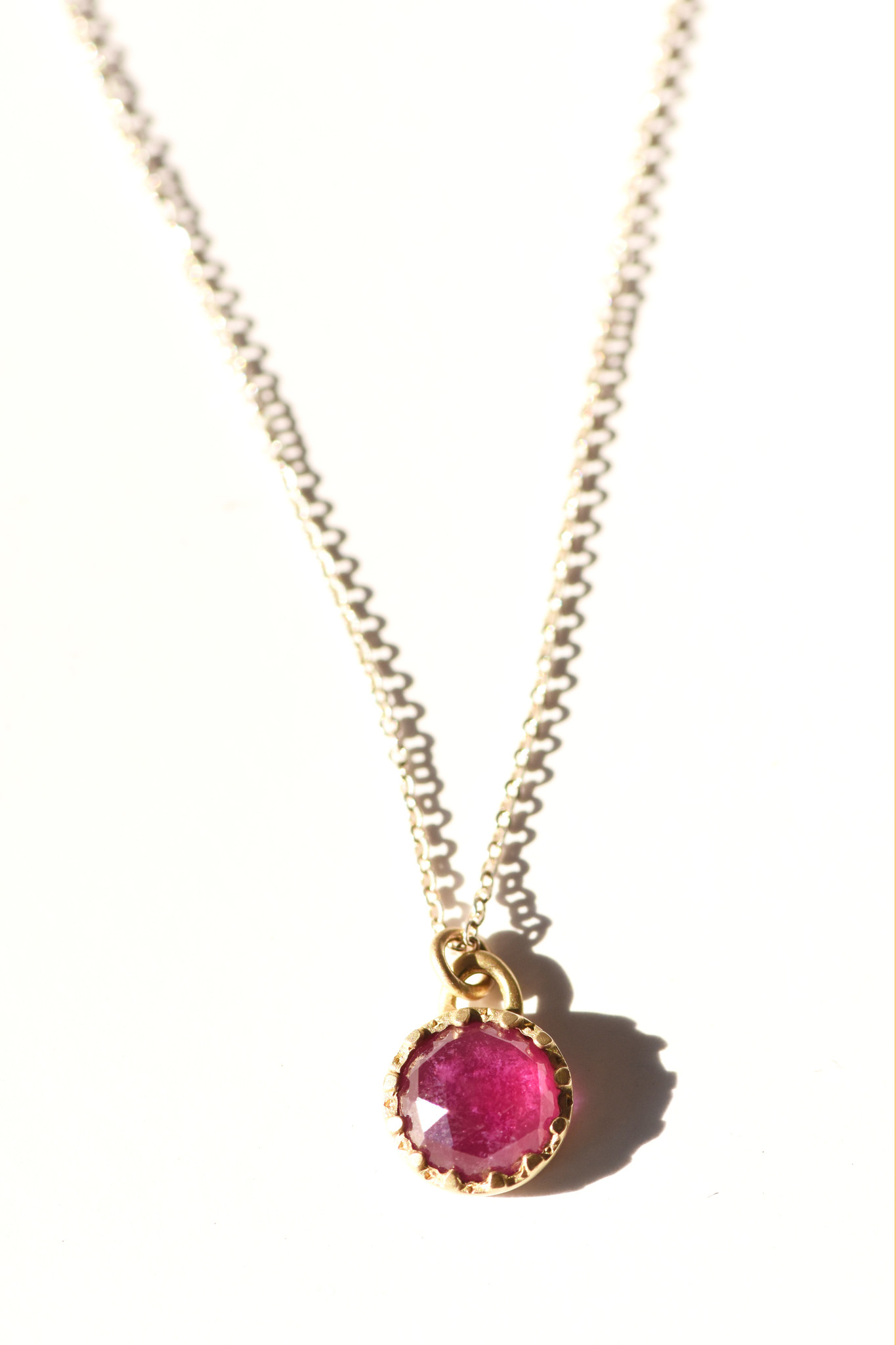 Lorak Ruby Beaded Cup Necklace
