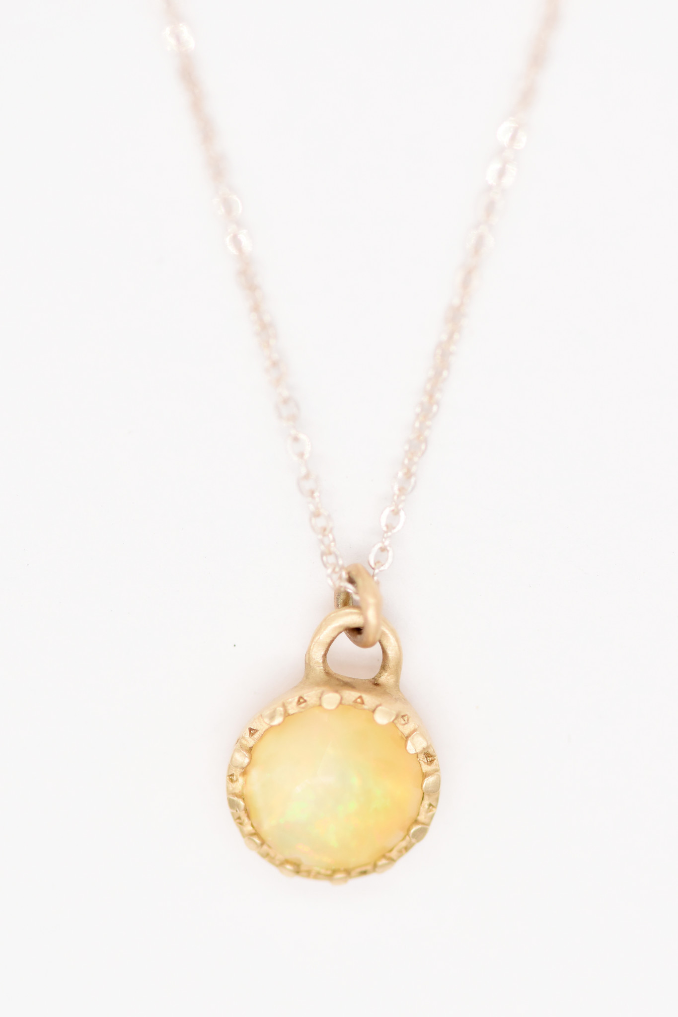 Lorak Opal Beaded Cup Necklace
