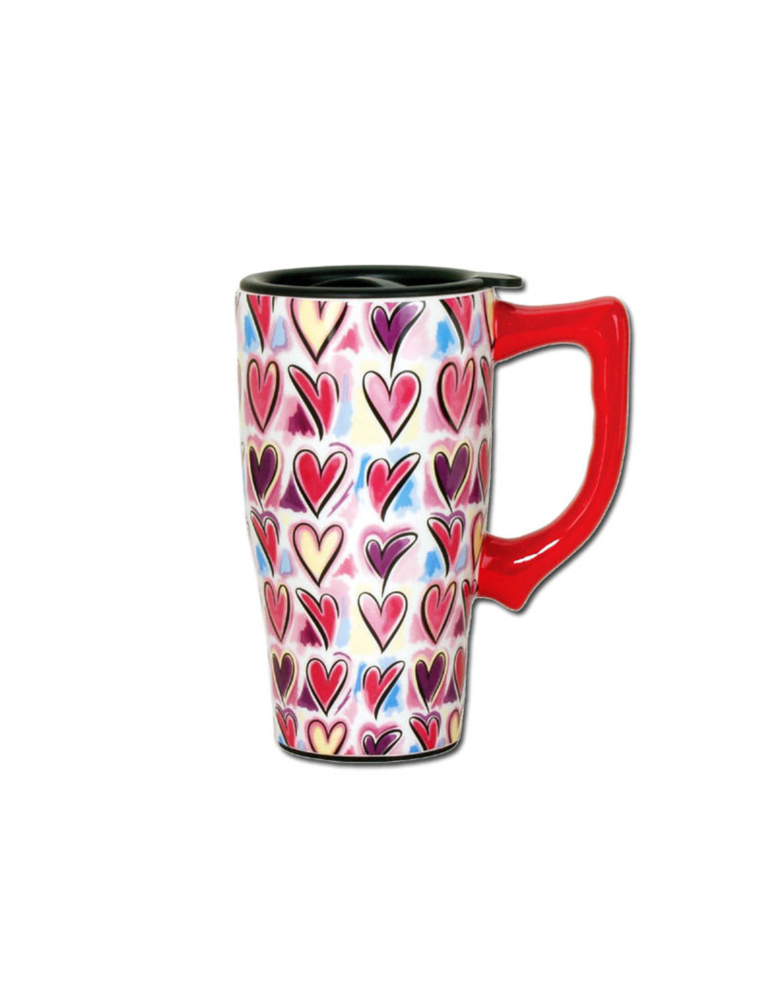 Hearts ( Travel mug )