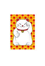 Lucky Cat ( Affiche métal 8.5cm x 11cm )