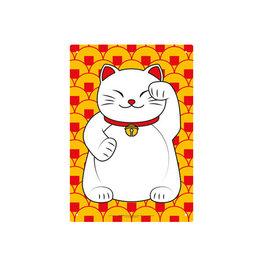 Lucky Cat ( Tin Signs 8.5cm x 11cm )