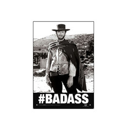 Badass ( Tin Signs 8.5cm x 11.5cm )