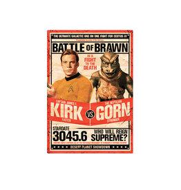Star Trek ( Affiche Métal 8.5cm x 11.5cm ) Kirk vs Gorn