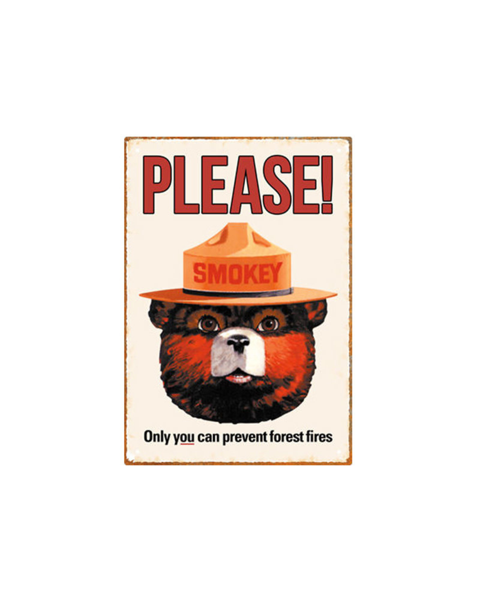 Smokey bear ( Tin signs 8.5cm x 11.5cm )