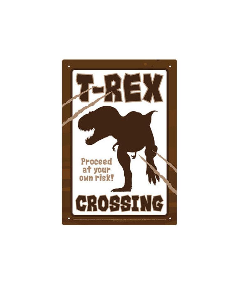 T-Rex ( Tin signs 8.5cm x 11.5cm ) Crossing