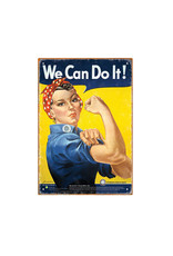 We Can Do It ( Tin signs 8.5cm x 11.5cm )