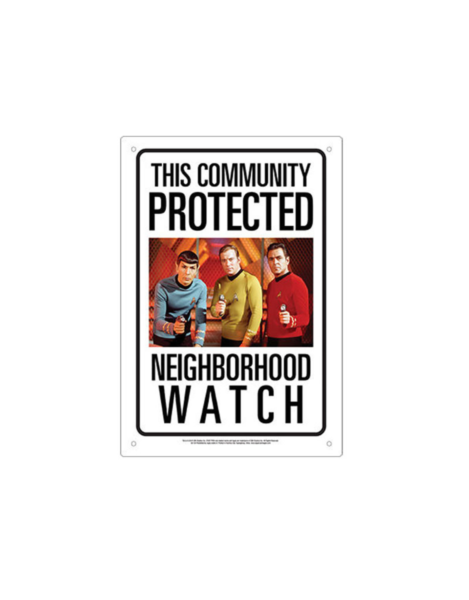 Star Trek ( Tin signs 8.5cm x 11.5cm ) watch