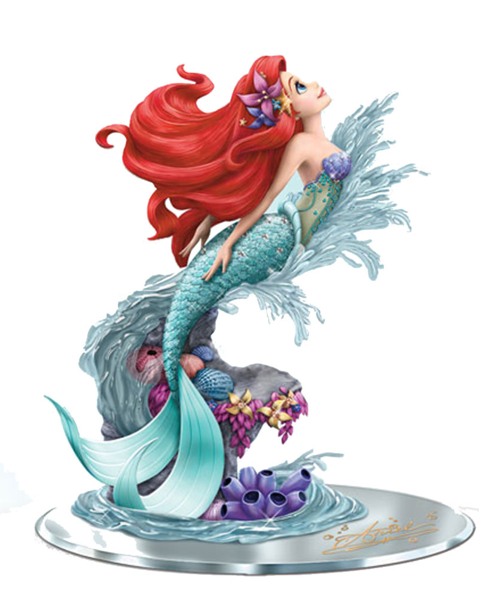 Disney Disney ( Resin  figurine on mirror ) Ariel