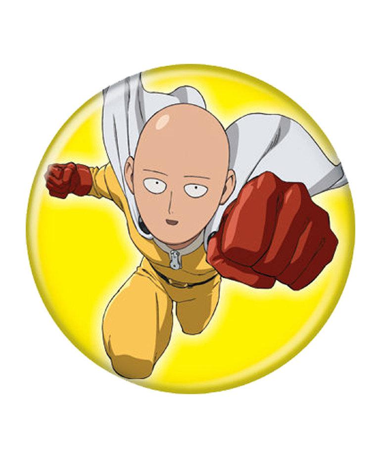 One Punch Man ( Button ) Saitama On Yellow