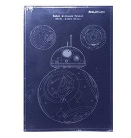 Star Wars Star Wars ( Affiche en métal embossée ) BB-8