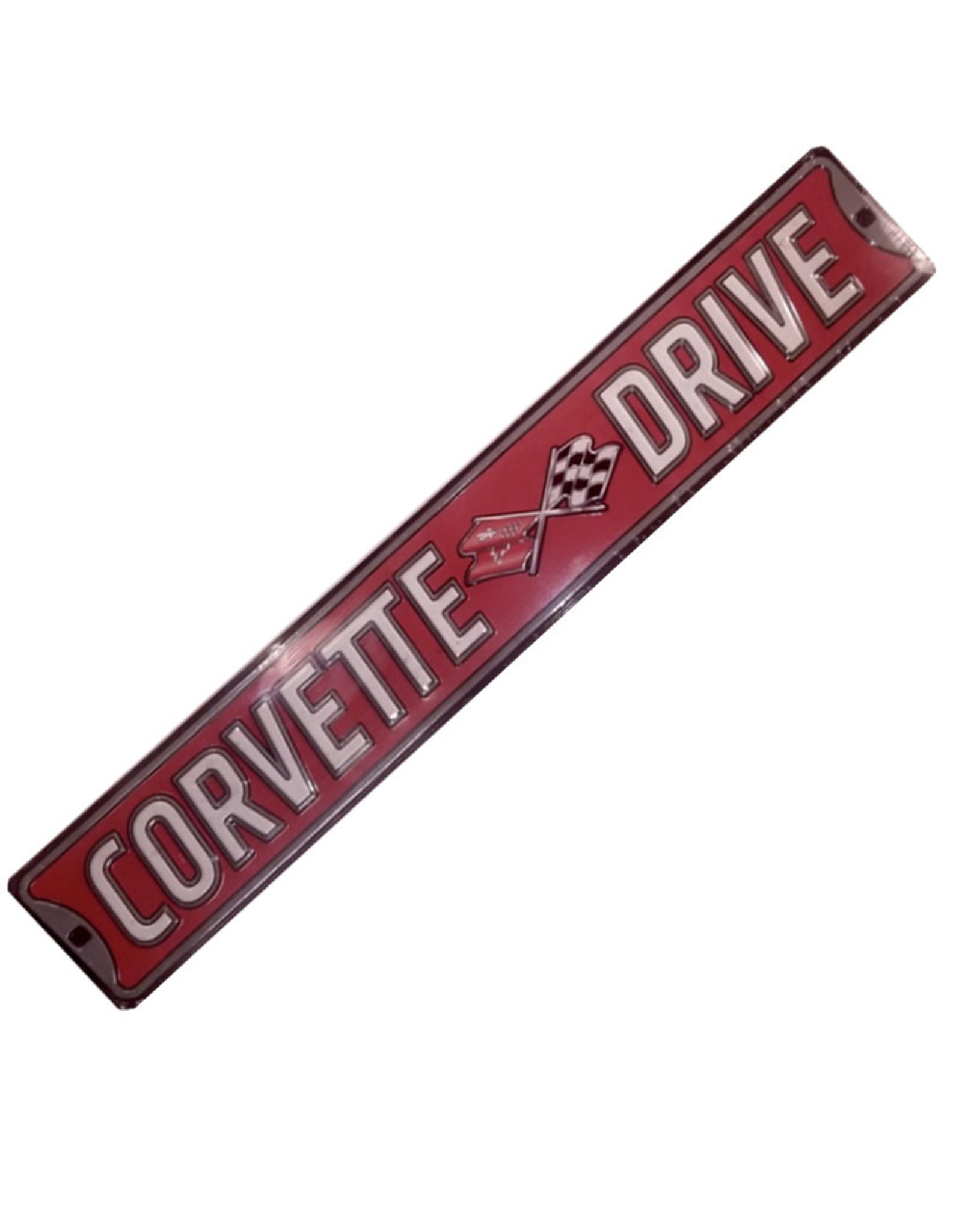 Corvette  ( Affiche de métal embossée ) Corvette drive