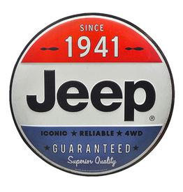 Jeep ( Embossed metal plate ) Oversized