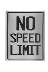 No Speed Limit ( Affiche Embossée )