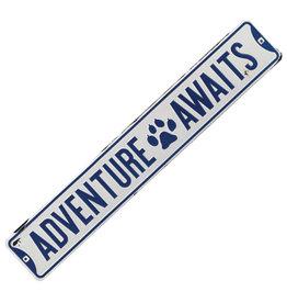 Adventure Awaits  ( Embossed Metal Plate  )