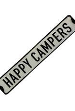 Happy Campers ( Affiche en métal embossée )