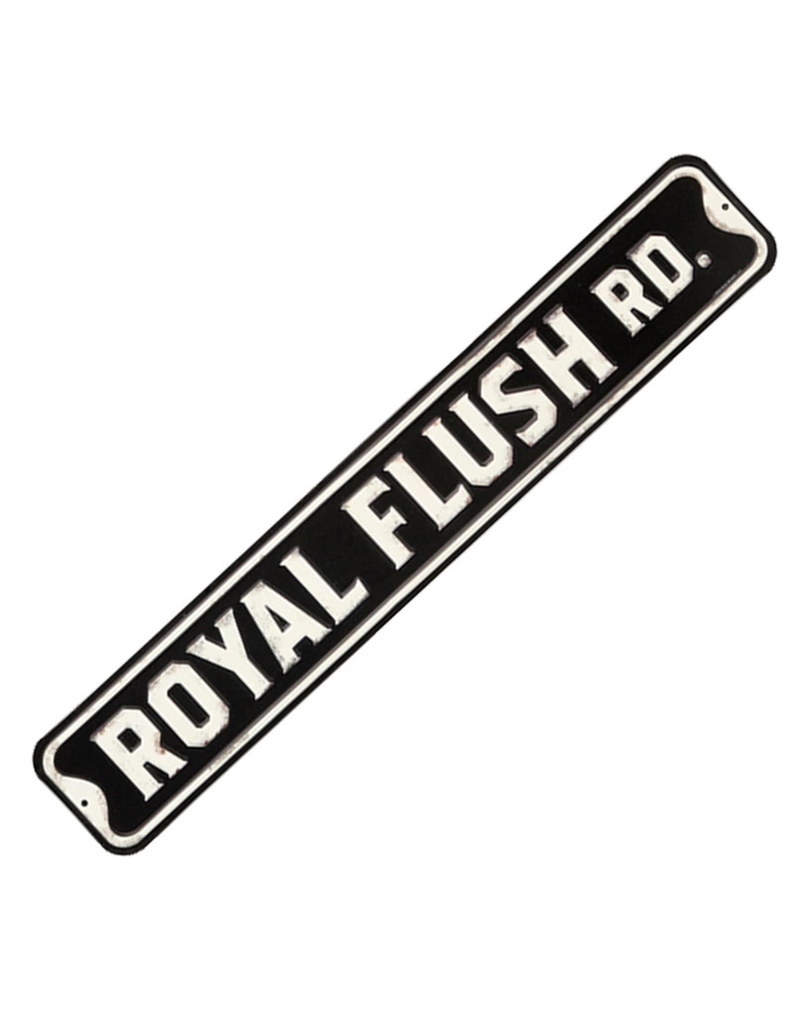 Embossed Metal Plate ( Royal Flush )