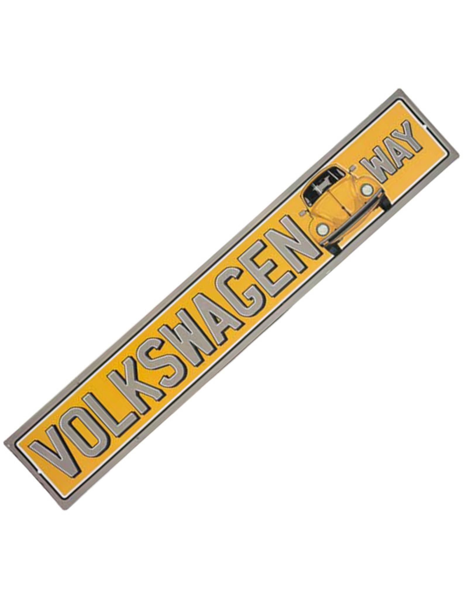 Affiche en Métal Embossée ( Route Volkswagen  )