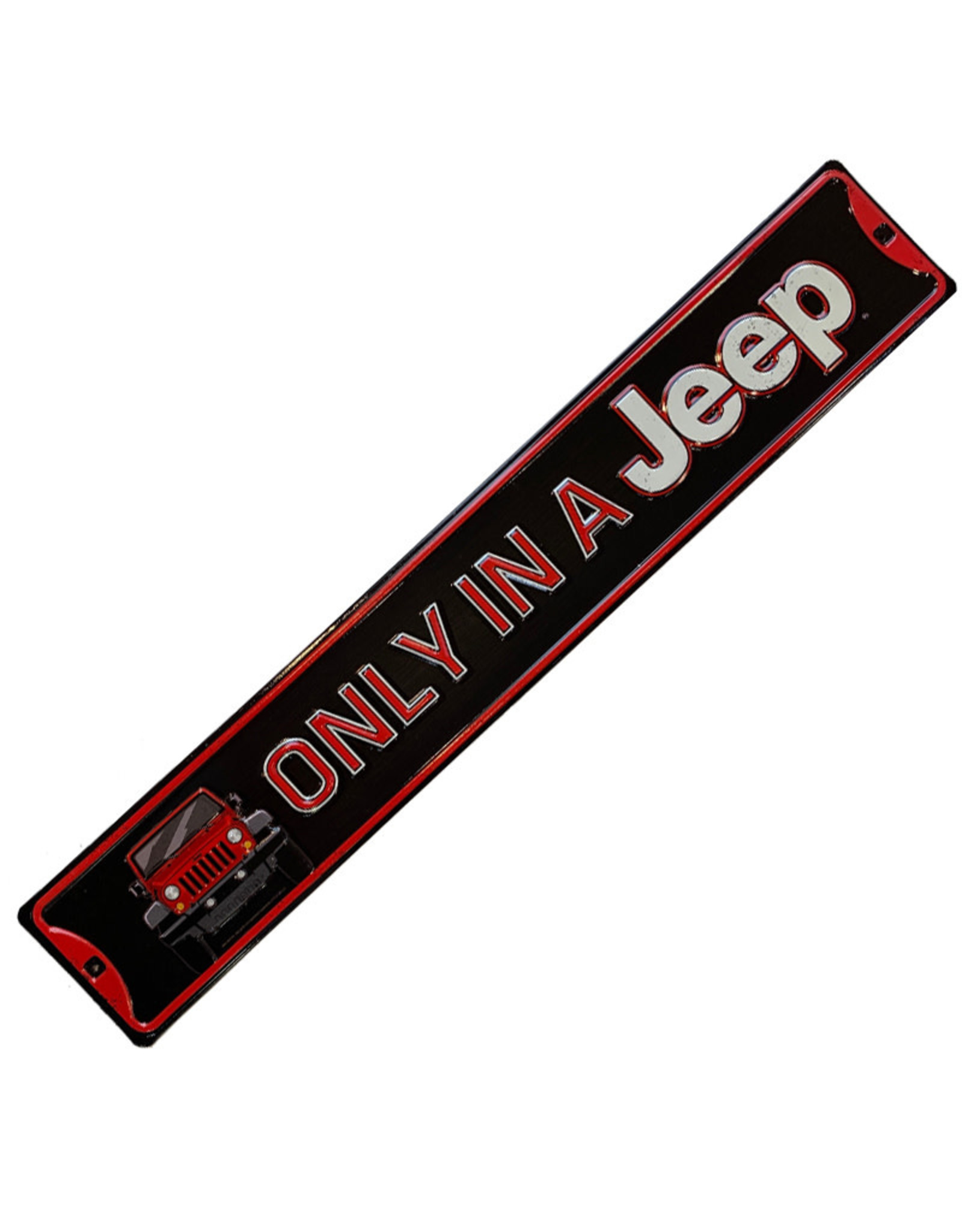 Jeep ( Embossed Metal Plate  ) Only In A Jeep