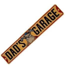 Embossed Metal Plate ( Dad's Garage Yellow )