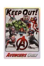 Marvel Marvel ( Affiche en métal embossée ) Écartez-vous, Avengers seulement