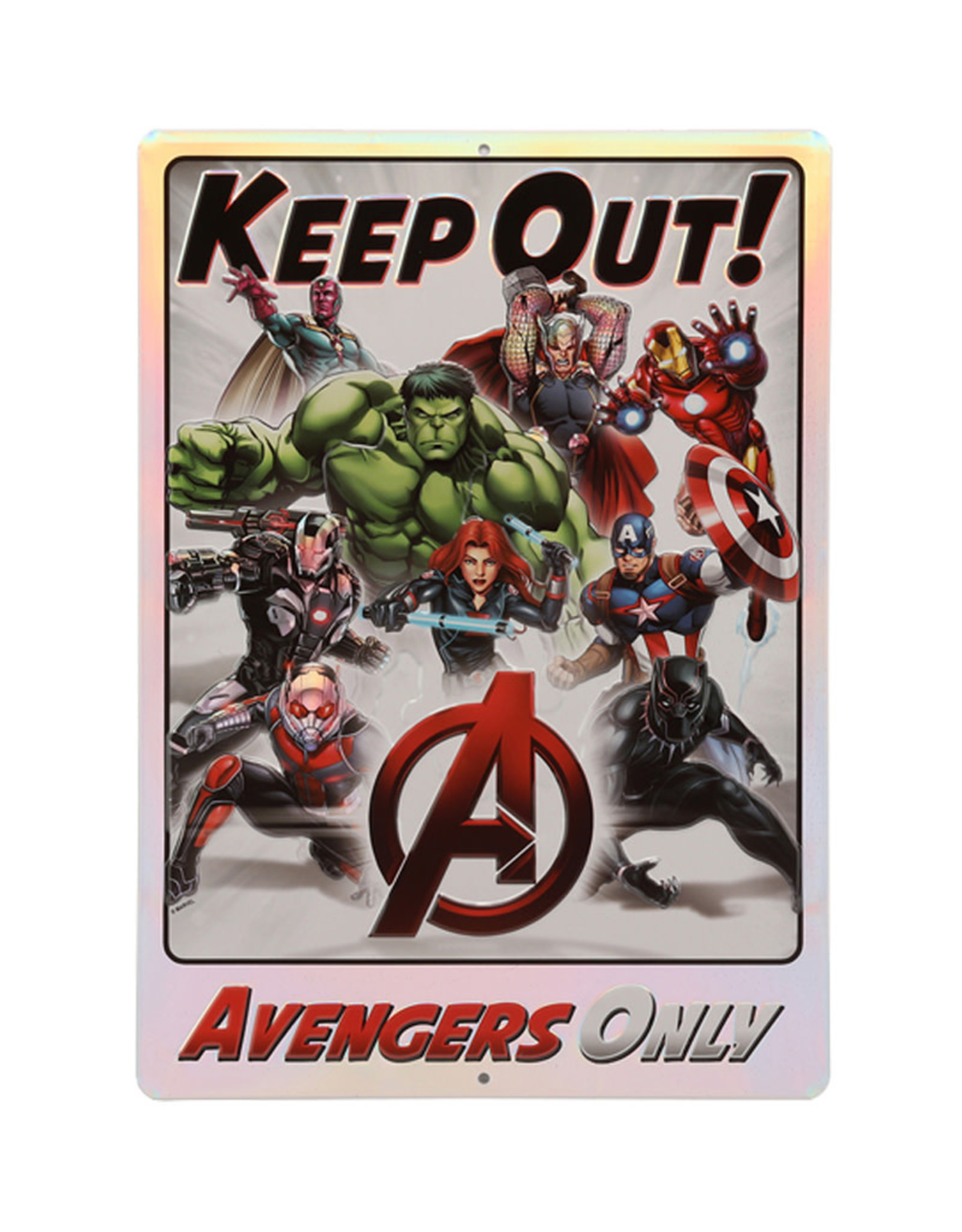 Marvel Marvel ( Embossed Metal Plate ) Avengers only Keep Out