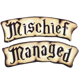 Harry Potter Harry Potter ( Embossed Metal Plate ) Mischief Managed