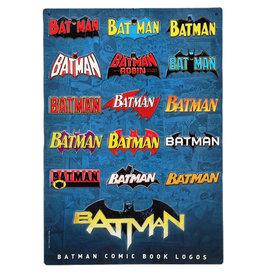 Dc comics Dc Comics ( Affiche en métal embossée ) Années des logos Batman