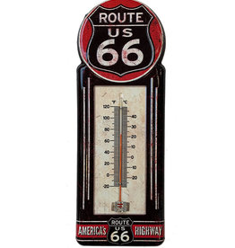Route 66 ( Embossed Metal Plate ) Thermometer