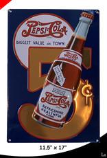 Pepsi-Cola ( Embossed Metal Plate ) 5 cents