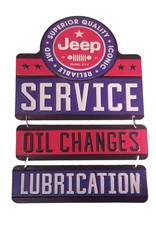 Jeep ( Affiche en métal embossée ) Service de changement d'huile