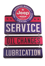 Jeep ( Embossed Metal Plate ) Service oil changes