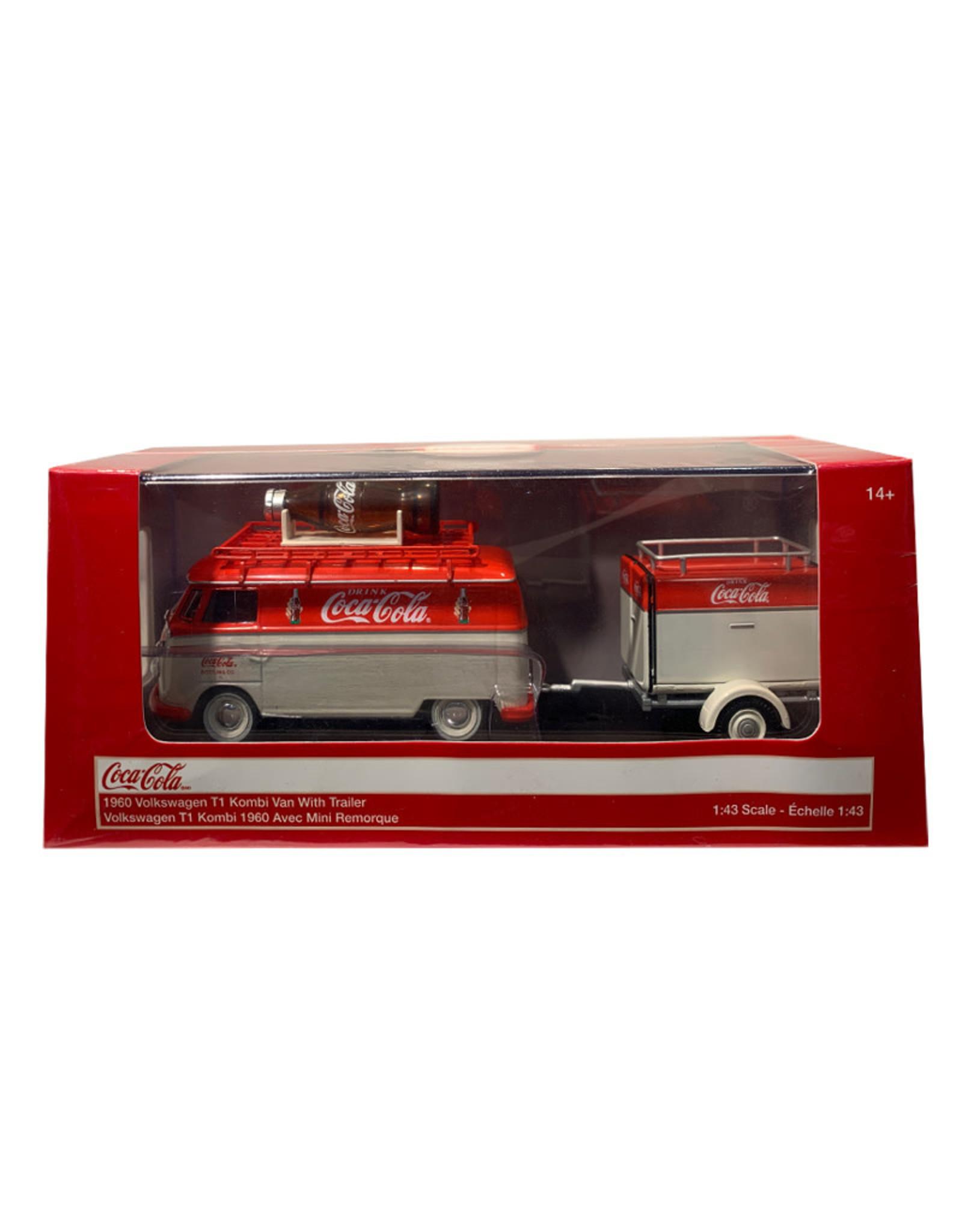 Coca-Cola Coca-Cola ( Die Cast ) 1960 Volkswagen T1 Kombi Van With Trailer