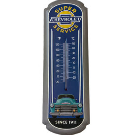 Chevrolet ( Embossed Metal Plate ) Thermometer Chevrolet since 1911