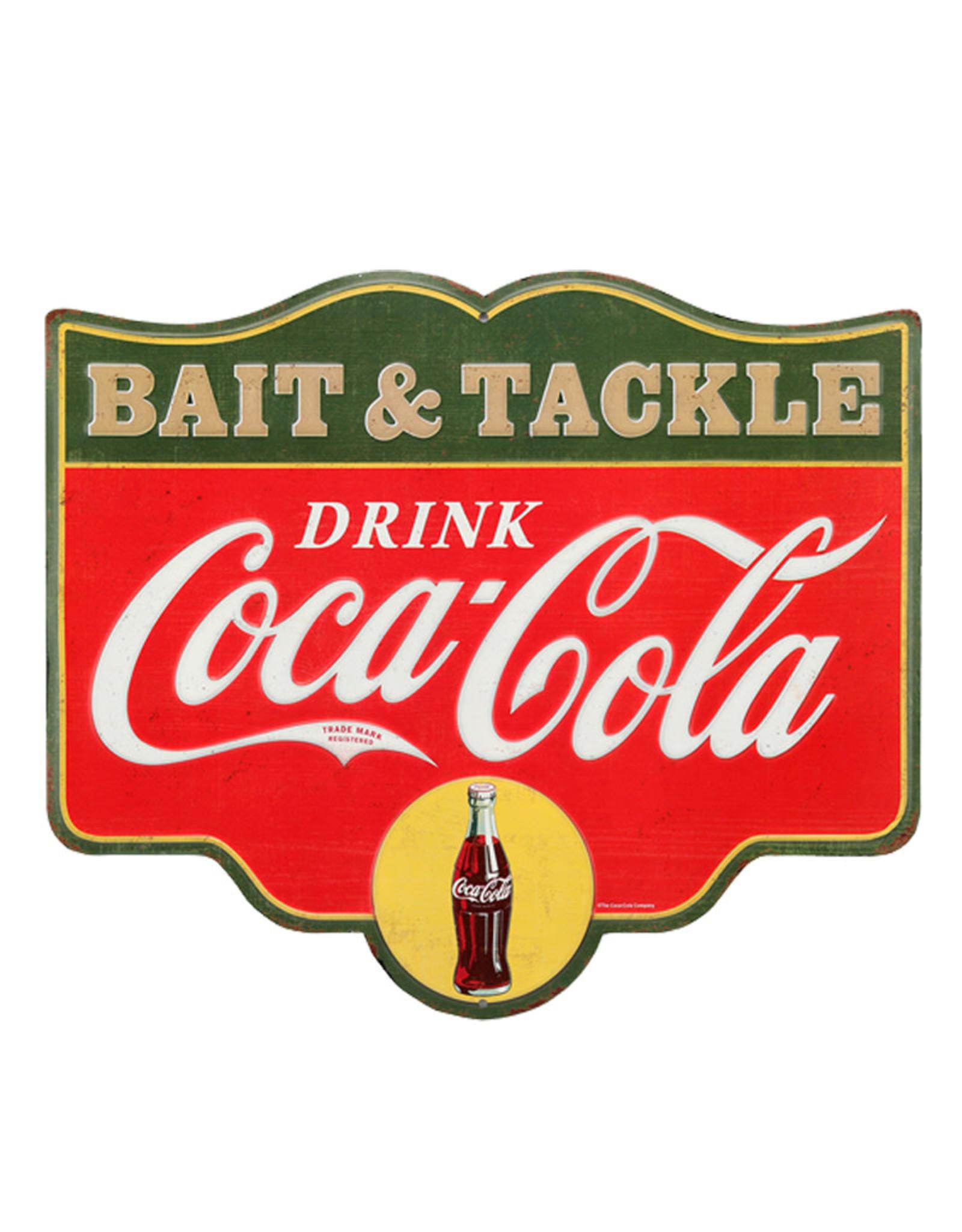 Coca-Cola Coca-cola ( Embossed Metal Plate  ) Bait & Tackle