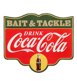 Coca-Cola Coca-cola ( Embossed Metal Plate  ) Bait & Tackle