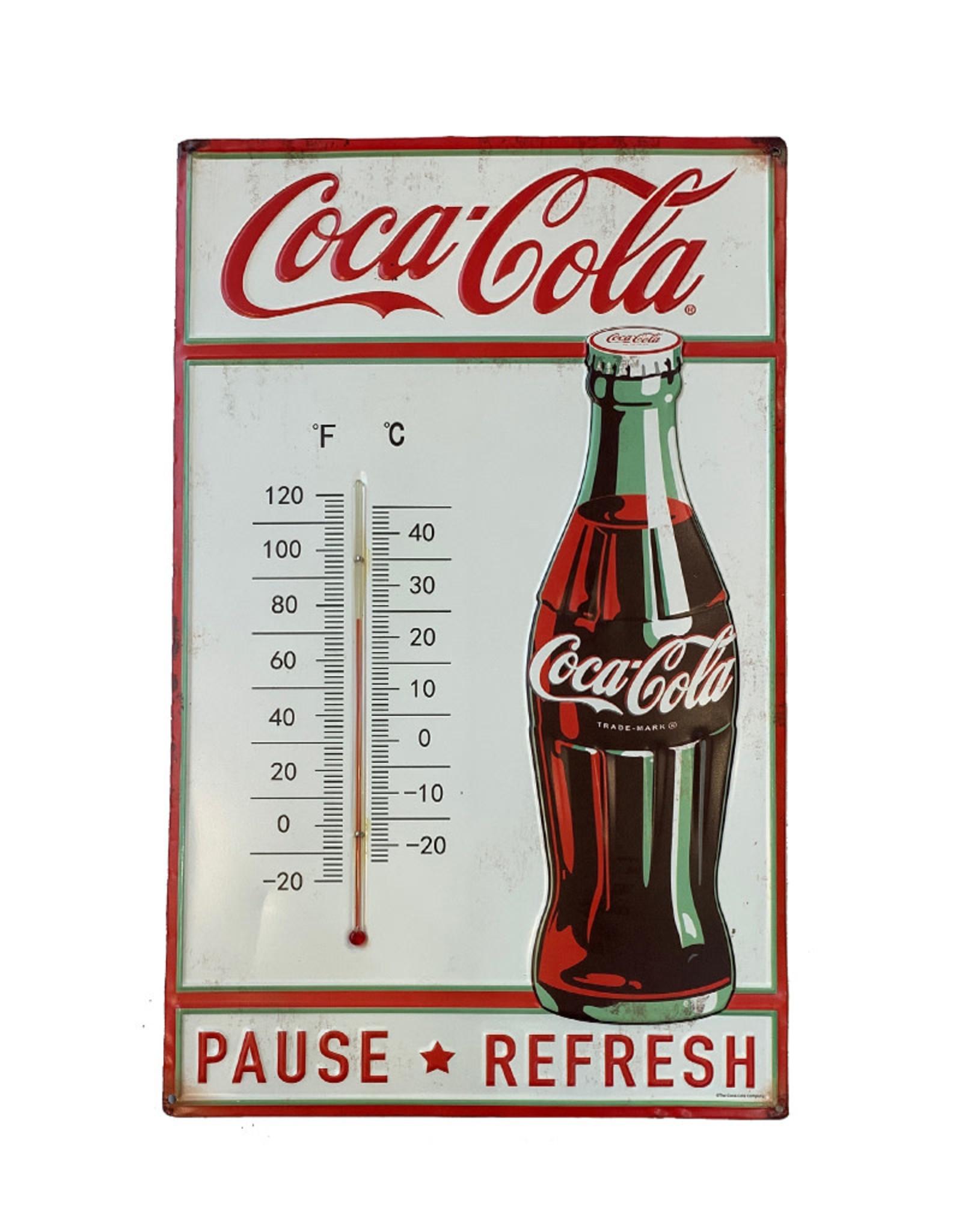 Coca-Cola Coca-Cola ( Embossed Thermometer ) Pause Refresh