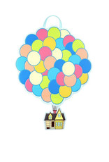 Disney Pixar (  Loungefly mini Backpack ) Up Balloon House