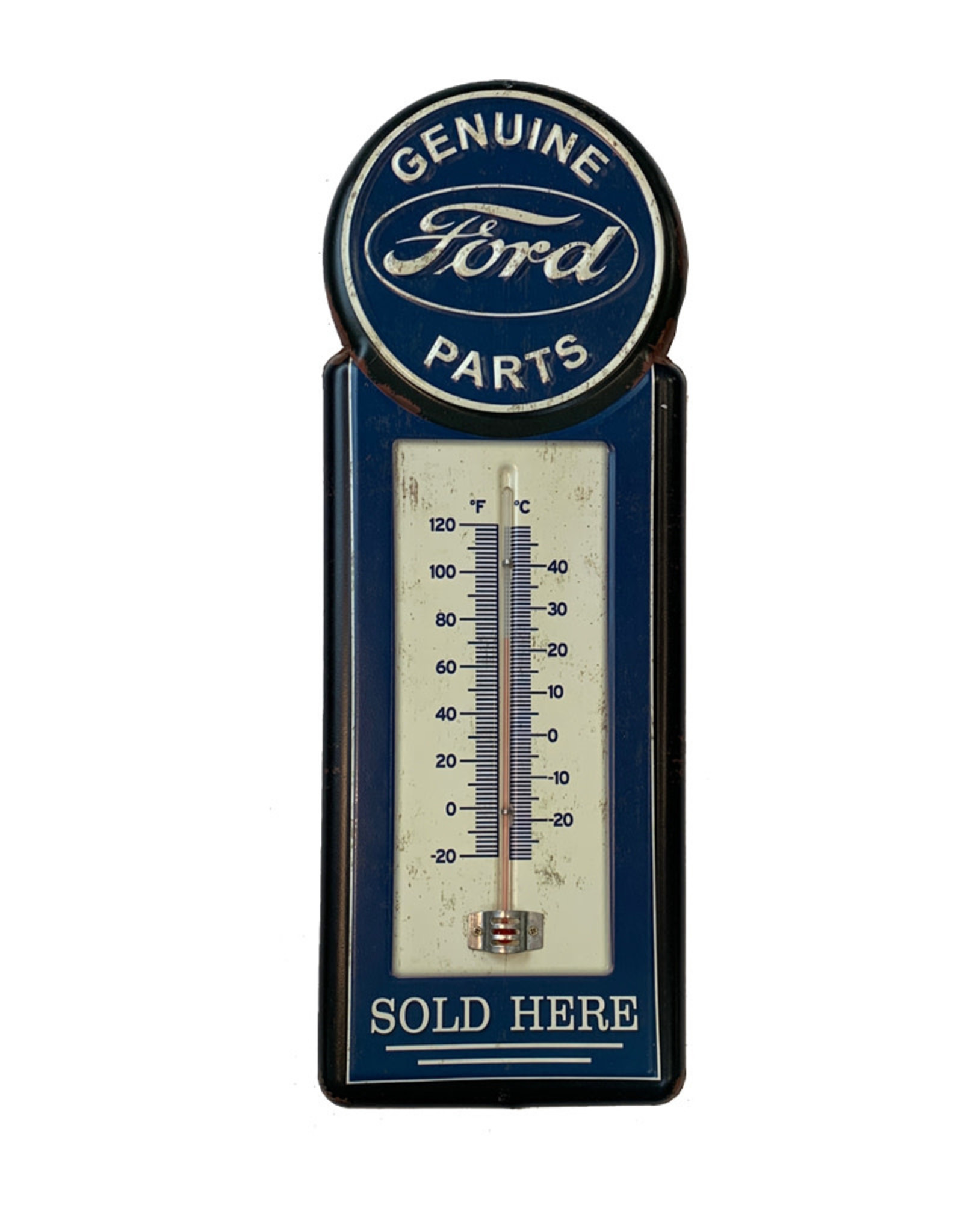 Ford (Embossed Metal Plate ) Genuine Ford Thermometer