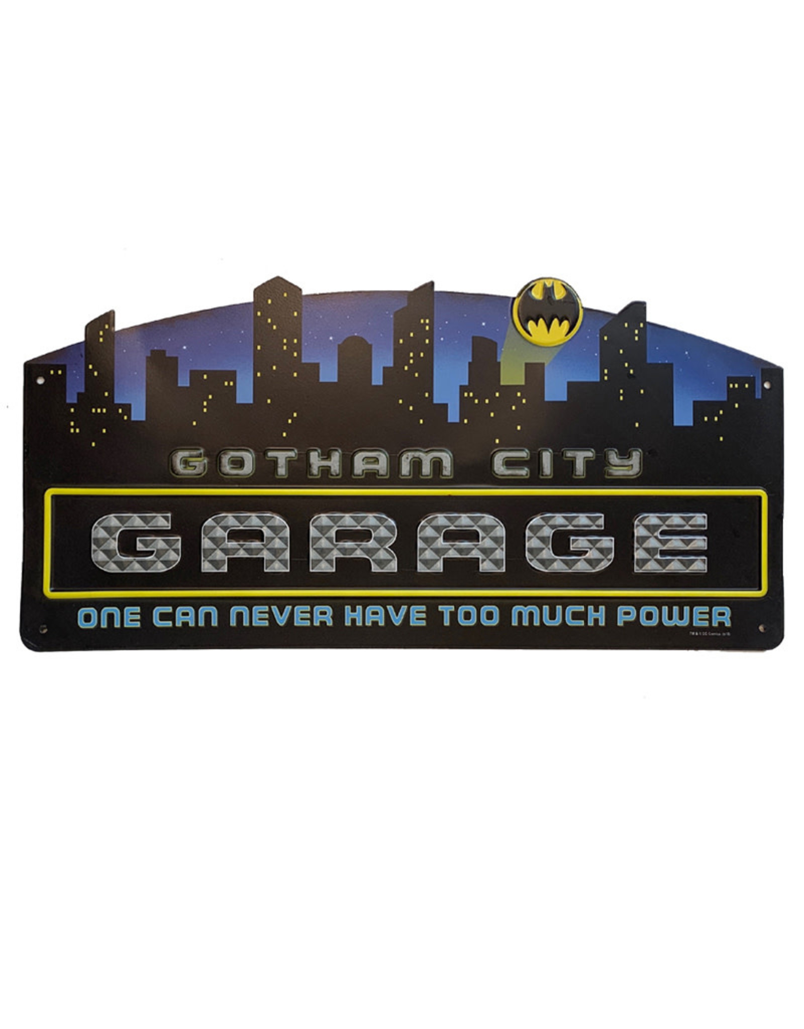 Dc comics Dc Comics ( Embossed Metal Plate ) Gotham City Garage