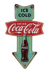 Coca-Cola Coca-Cola ( Embossed Metal Plate ) Ice Cold