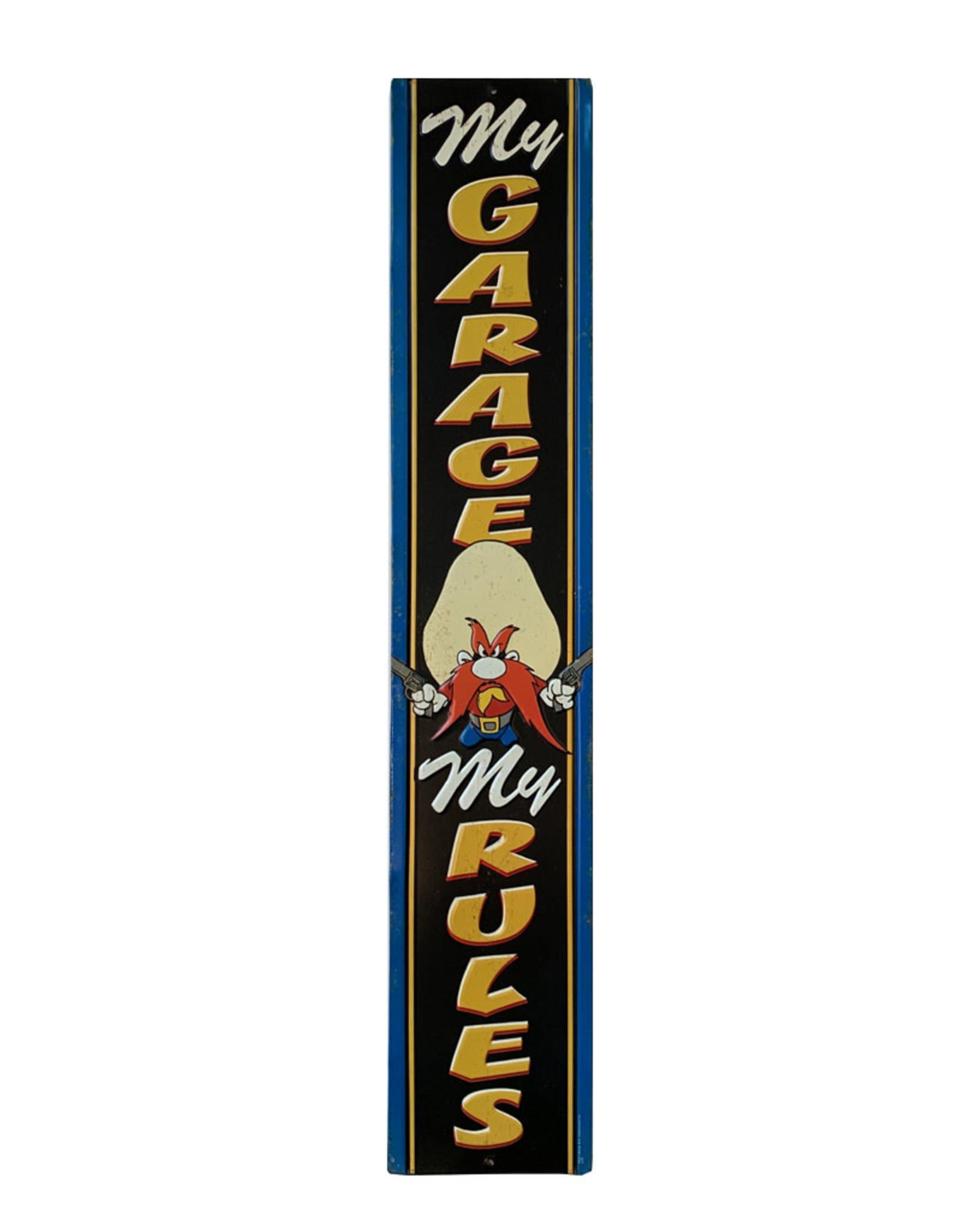 Looney Tunes ( Embossed Metal Plate ) Sammy Sam : my garage, my rules