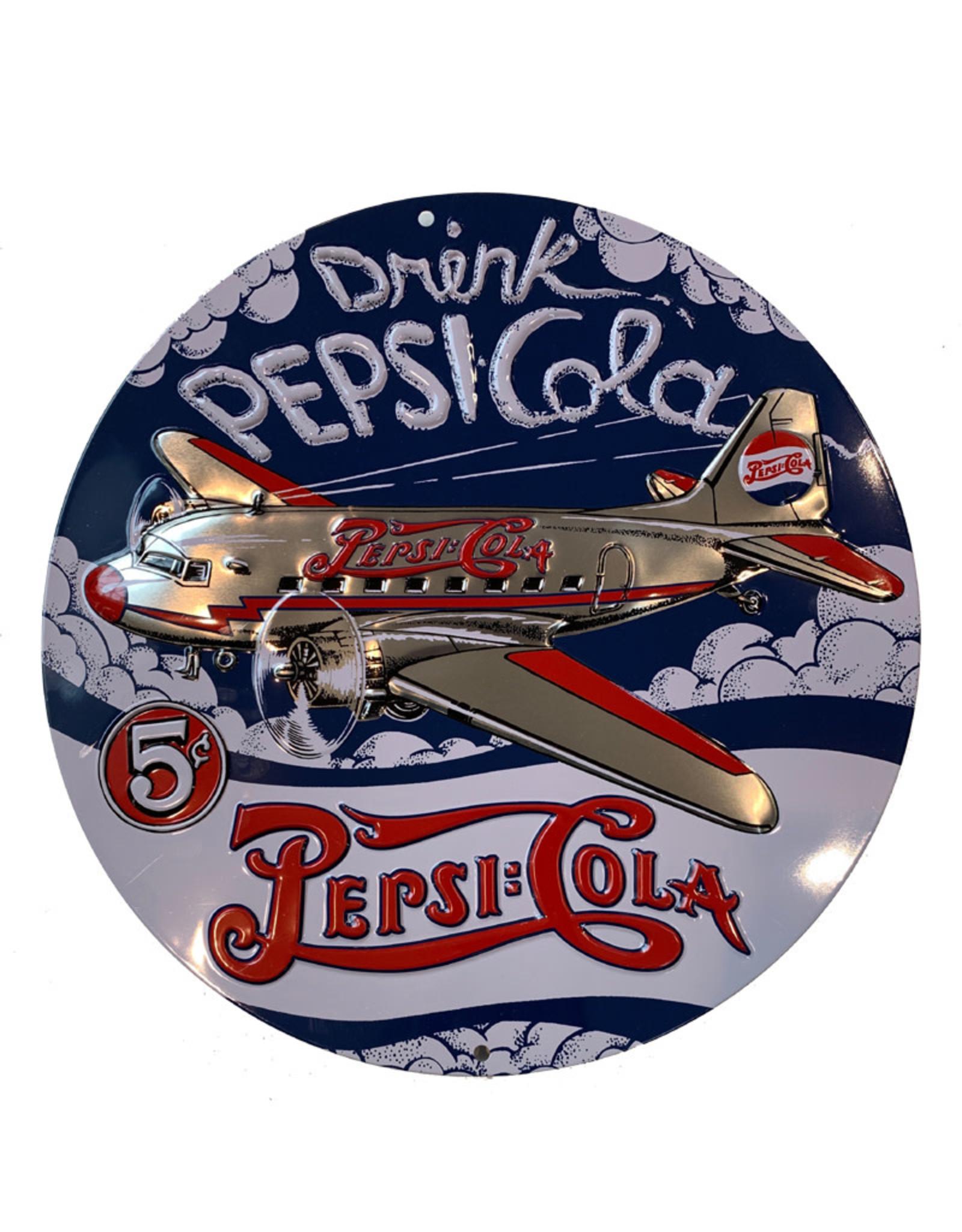 Pepsi-Cola ( Embossed Metal Plate ) Plane