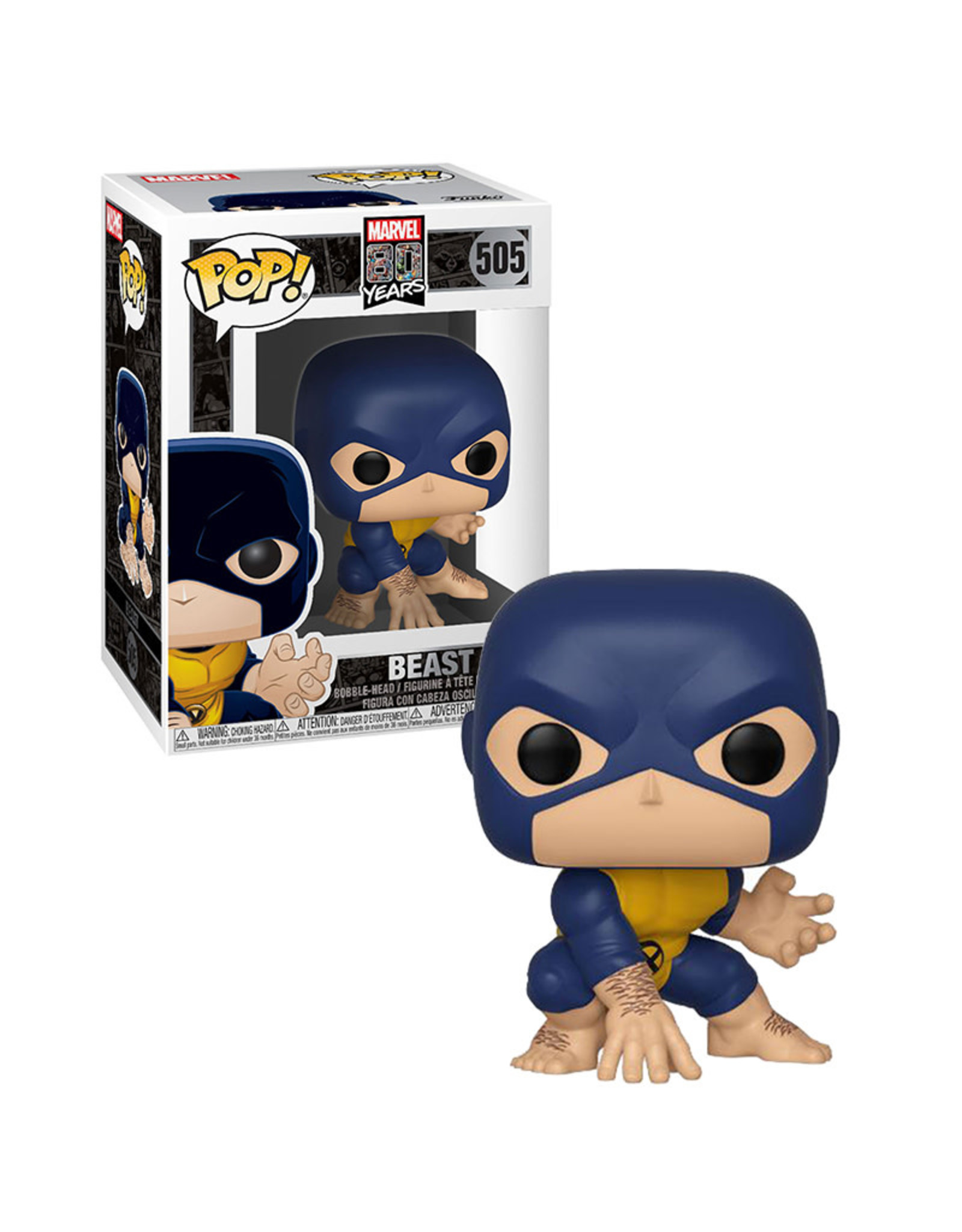 Marvel Beast 505 ( Funko Pop ) Marvel 80 Years