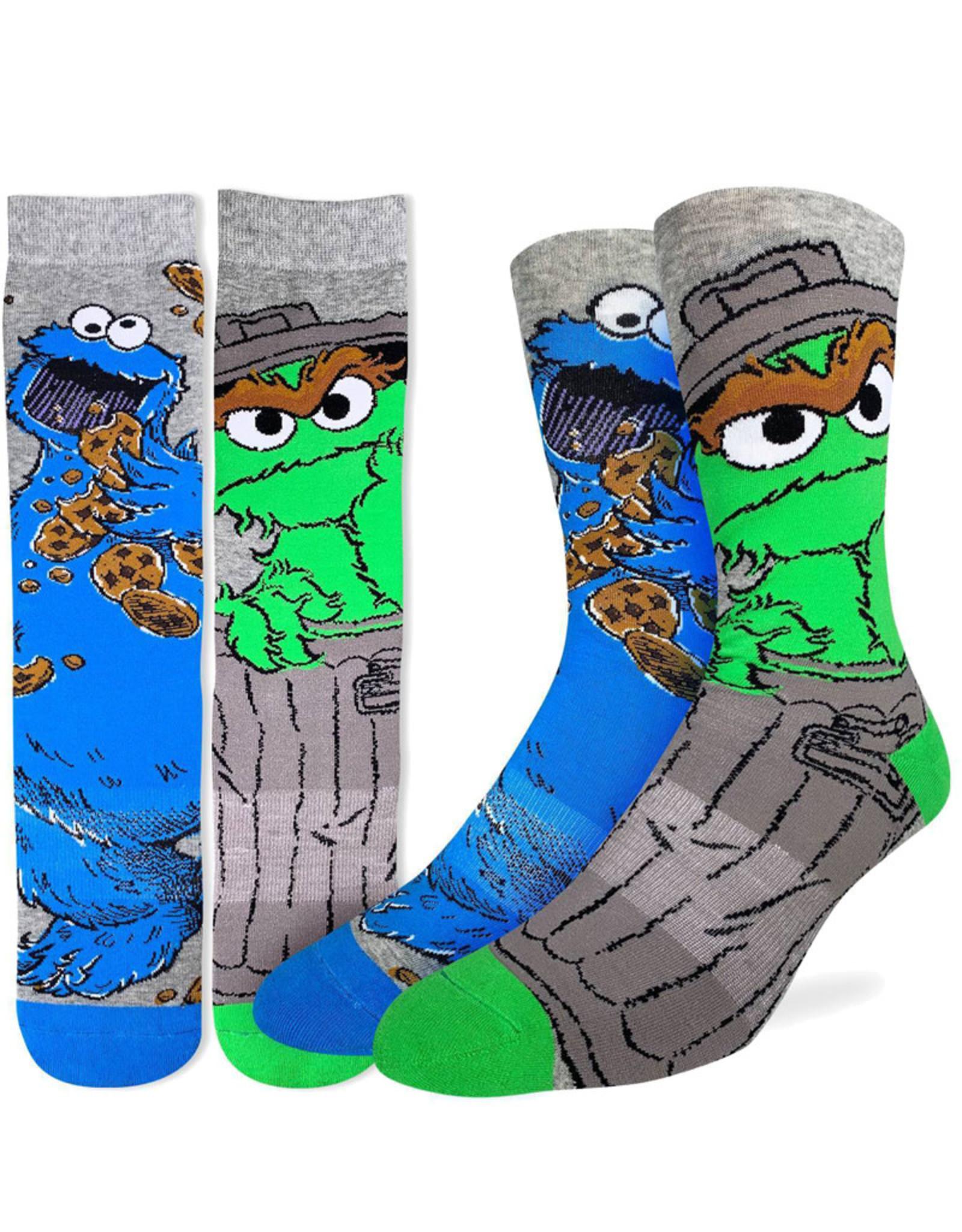 Sesame Street ( Good Luck Sock ) Oscar And Cookie Monster