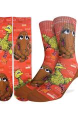 Sesame Street ( Bas Good Luck Sock )  Big Bird & Mr. Snuffleupagus