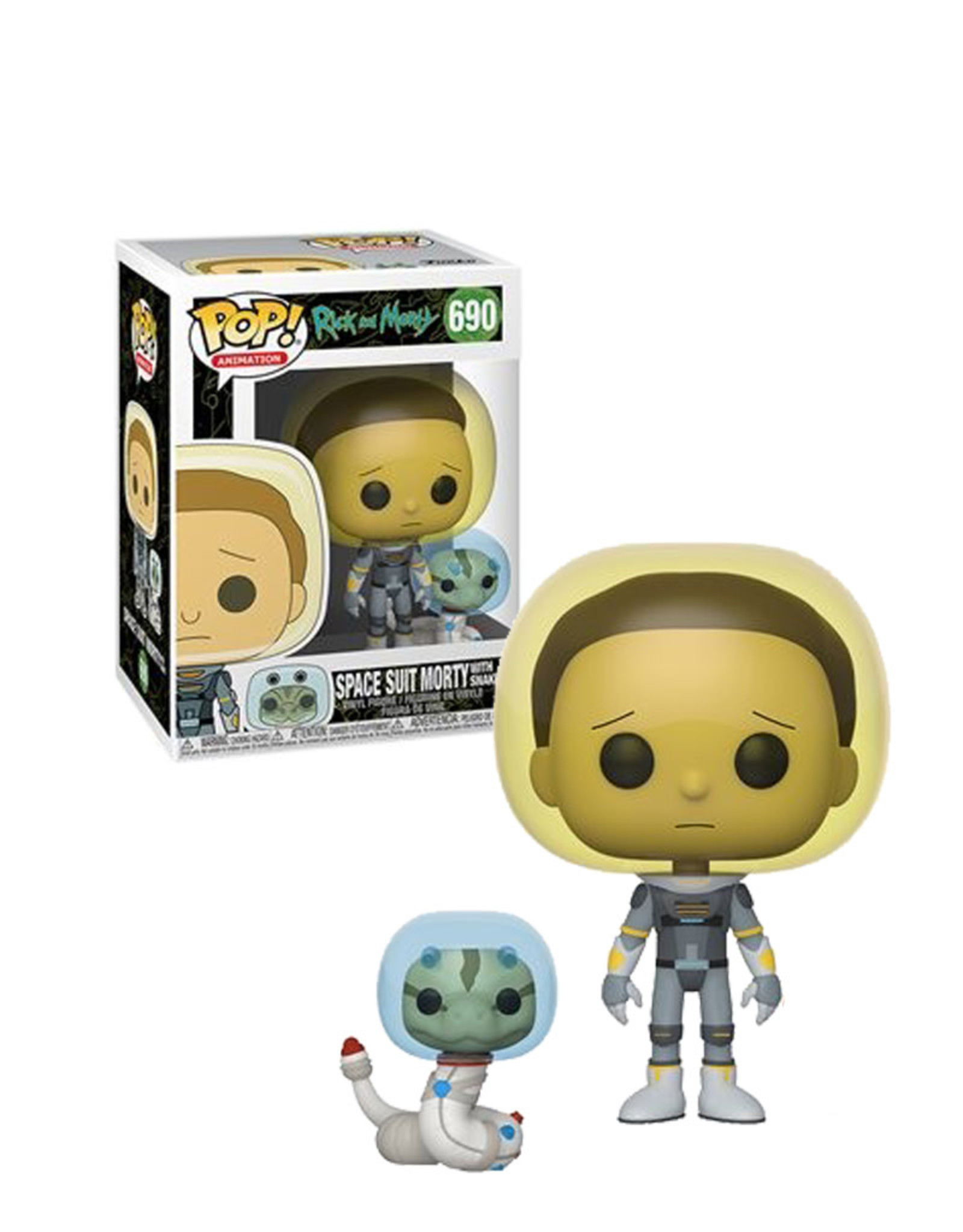 Rick and Morty Space Suit Morty With Snake 690 ( Funko Pop ) Rick and Morty