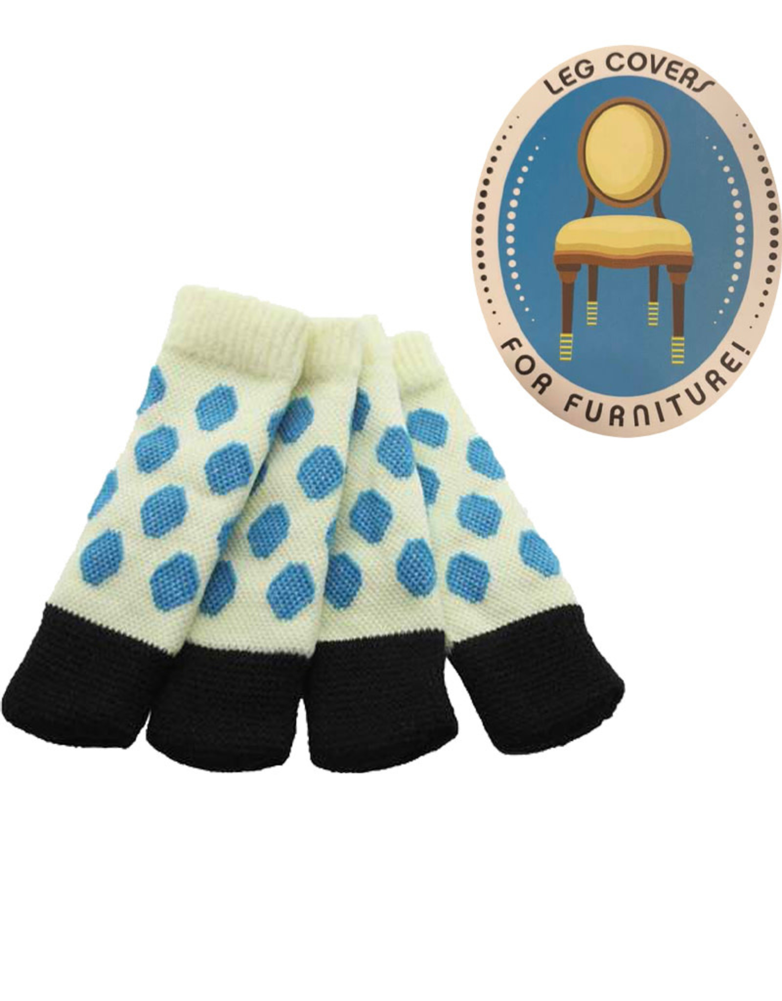 Chair Socks ( Spotted Turquoise )