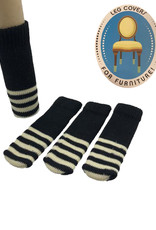 Chair Socks ( Striped Black  )