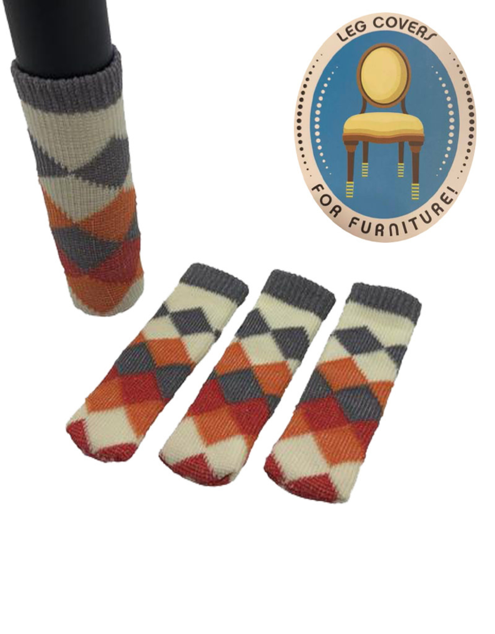 Chair Socks (  Diamond Patterns )